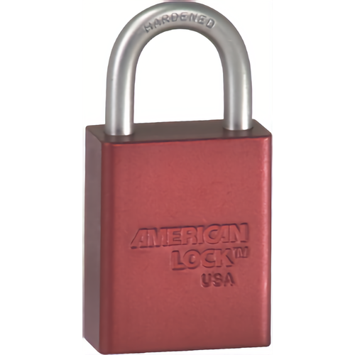 American Lock A3105WO RED Sfic Padlock 1in Shackle Red Less Cyl