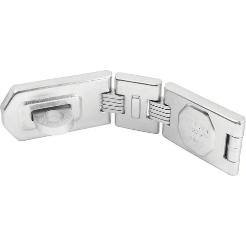 American Lock A885 Hasp 7-3/4in Dbl Hinge Steel