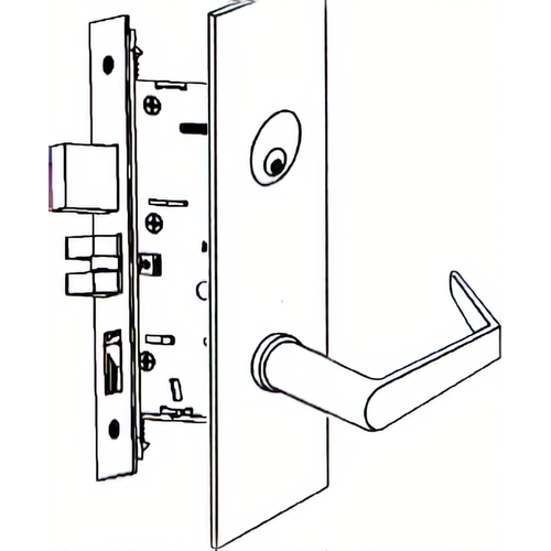 Marks Hardware 5CP92FS/32D-G3 Apartment American Lever Capitol Lc
