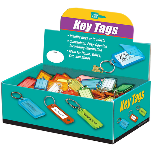 Luckyline 10100 Id Key Tag Ball Chain Assorted 100/bx