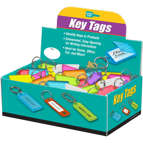 Luckyline 12300 Id Tag Tang Ring Assorted 100/bx