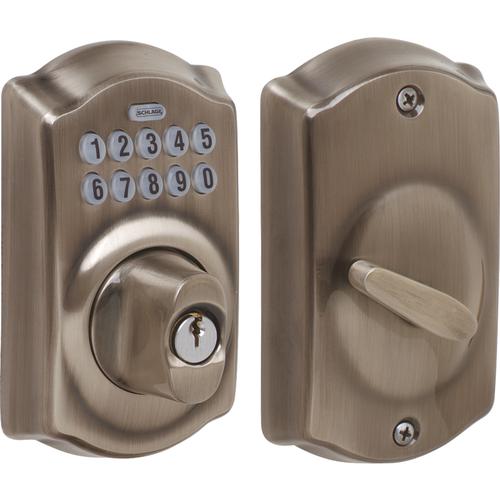 Schlage BE365CAM620 Schlage Lock Pushbutton Lock