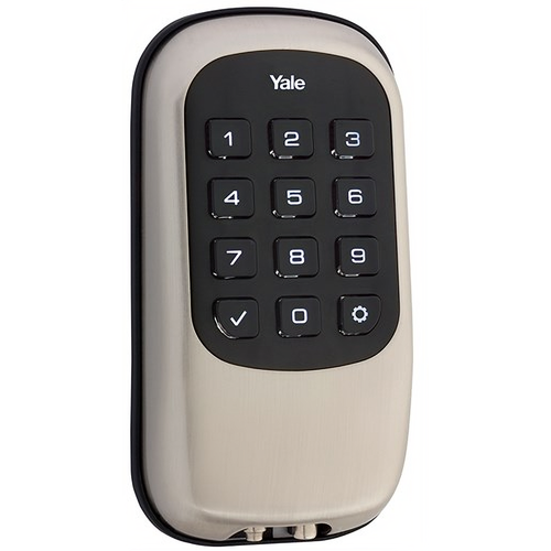 Yale YRD110 ZW 619 Keyless Push Button Deadbolt with Z-Wave Satin Nickel Finish
