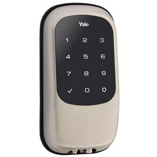 Yale YRD120 ZW 619 Keyless Touchscreen Deadbolt with Z-Wave Satin Nickel Finish