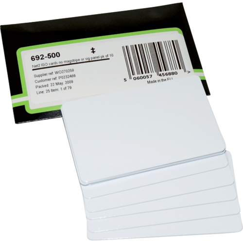 Paxton Access 692-500-US Net2 Prox Iso Cards No Magstripe 10/pack