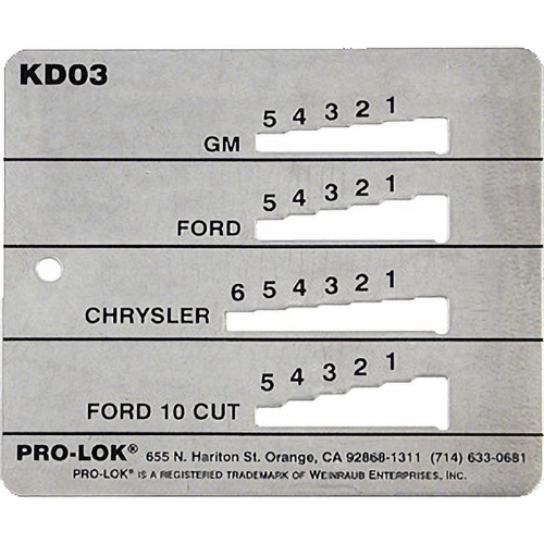 Pro-Lok KD03 Decoder Gm-ford-chrysler