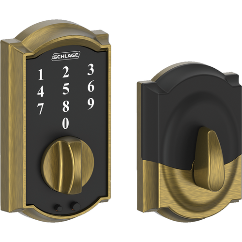 Schlage BE375CAM609 12-287 Touch Keypad Deadbolt Camelot