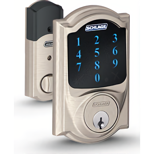 Schlage BE469ZP CAM619 12-342 Touchscreen Deadbolt Camelot W/ Z-wave