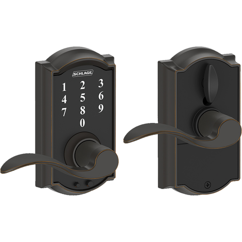 Schlage FE695CAMACC716 16-211 Touch Keypad Lever Camelot/accent