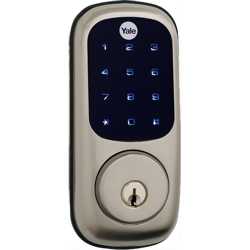 Yale YRD226 NR 619 SCKD Assure Touchscreen Stand Alone Deadbolt with Schlage C Keyway Satin Nickel Finish