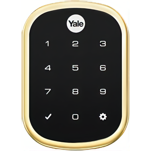 Yale YRD256 CBA 605 Key Free Assure Touchscreen Deadbolt Connected by August Bright Brass Finish
