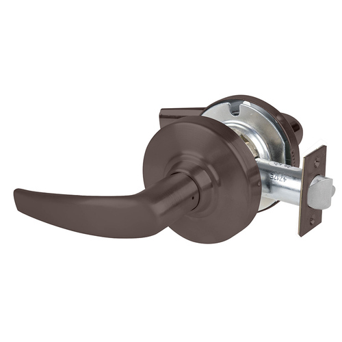 Schlage ALX108AT613 ALX Series Grade 2 Passage Tactile Athens Lever Lock with 47267038 Springlatch and 47267101 ANSI Strike Oil Rubbed Bronze Finish