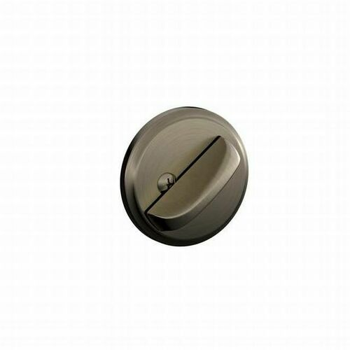 Schlage B80620 One Sided Deadbolt with 12287 Latch and 10116 Strike Antique Nickel Finish