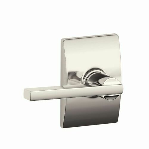 Schlage F10LAT618CEN Latitude Lever with Century Rose Passage Lock with 16080 Latch and 10027 Strike Bright Nickel Finish