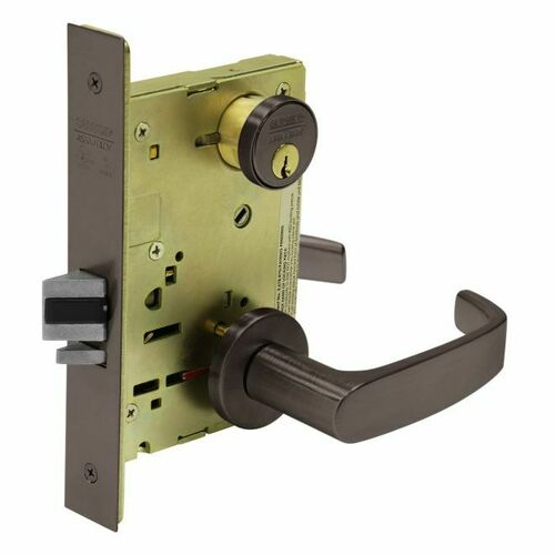Sargent TR8205LNL10BE Mortise Entry Trim Only with L Lever and LN Rose Dark Bronze Finish